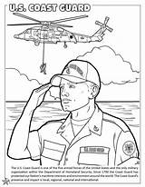 Coloring Guard Coast Pages Force Air Forces Armed National Activity Army Military Printable Books States United Getcolorings Colorings Template sketch template