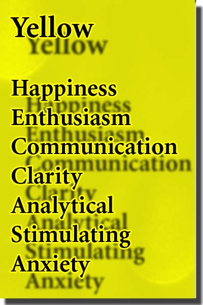 color yellow meaning color yellow color psychology personality meaning