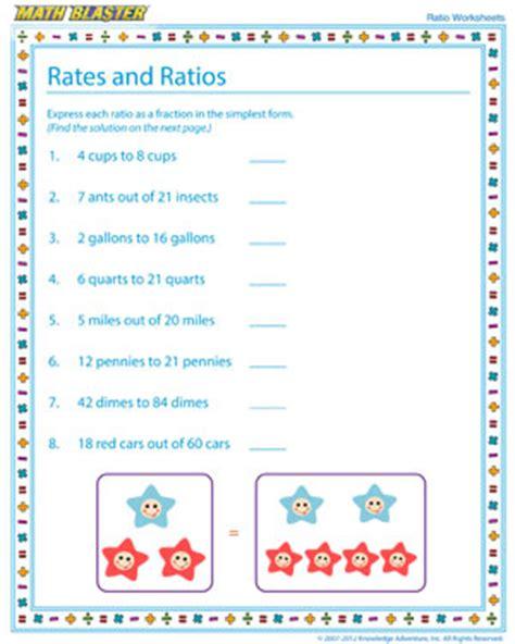 printable math worksheets  ratios
