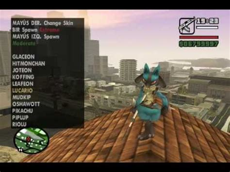 gta san andreas pokemon mod skins youtube