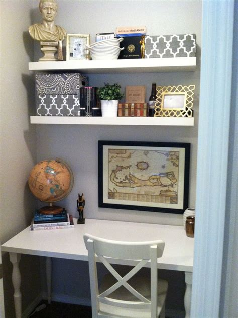 closet desk ideas closet office paint glidden smooth stone shelves desk ikea new house pinterest master