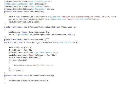 Using Script Component Transformation Sql Server