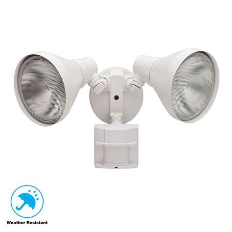 Porch Light Motion Sensor by Defiant 180 Degree White Motion Sensing Outdoor Security