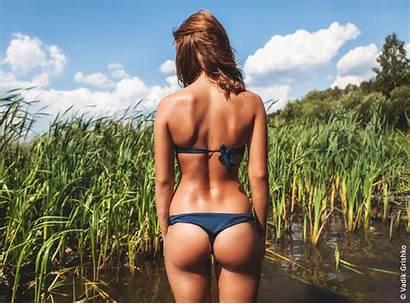 Bikini Ass Gap Hair Sun Tanning Human