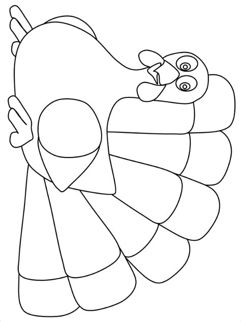 turkey shape templates coloring pages