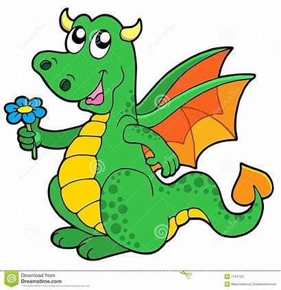 Drache Blume Clipart Dragon Netter Draak Drago
