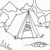 Coloring Camping Pages Tent Boy Printable Colouring Sheets Scene Nature Fire Fun Camper Tents Bestcoloringpagesforkids Theme Peaking Pit Head Park sketch template
