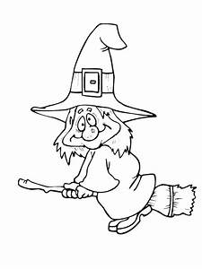 Halloween Witch Coloring Page | Purple Kitty