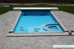 Inground Rectangle Pools with Hot Tubs