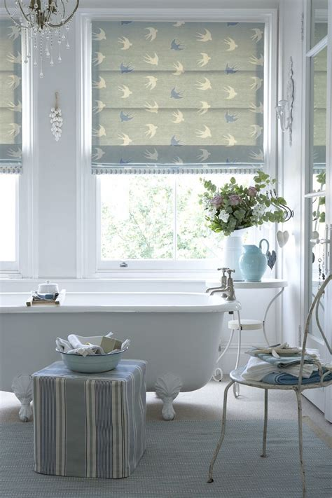 Modern Bathroom Blinds by Blind In Dive Duck Egg And Speedwell With