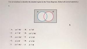 Answered  Use Set Notation To Identify The Shaded U2026