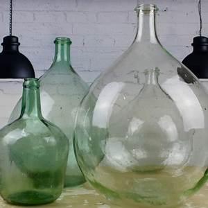 Dame Jeanne Deco : dame jeanne bonbonne vase forme bouteille en verre recycl transparent ~ Teatrodelosmanantiales.com Idées de Décoration