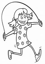 Coloring Jump Pages Rope Jumprope sketch template
