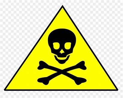 Toxic Chemical Skull Crossbones Hazard Clipart Symbol