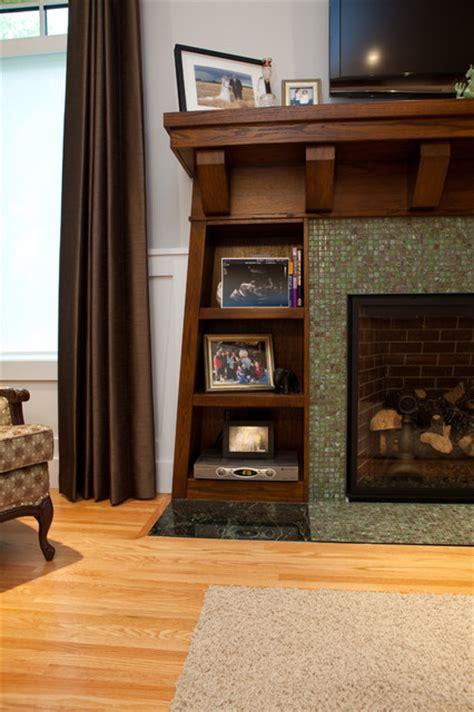 Built-ins around Fireplace - Craftsman - Living Room