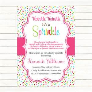 Baby Girl Sprinkle Invitations