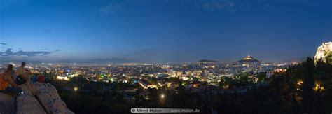 Panorama view of Athens at night photo. Panoramic views ...