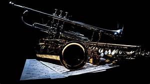 Saxophone and Trumpet HD Wallpaper - WallpaperFX