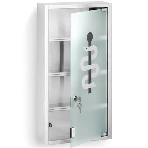 Blomus Locking Medicine Chest  Matte Steel In Bathroom