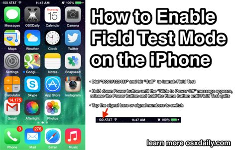 how to enable on iphone 5s use field test mode to see true iphone signal strength as