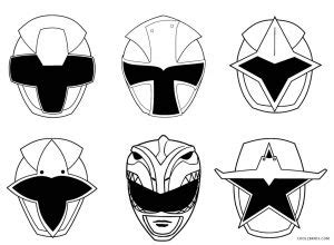 printable power ranger coloring pages  kids