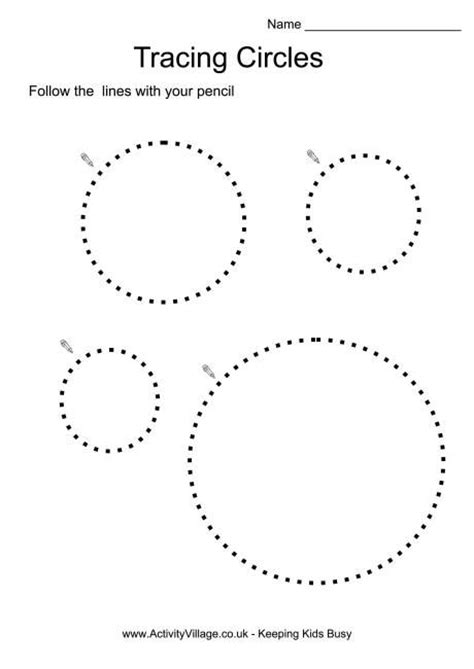 worksheet for tracing circles tracing circles projects to try pinterest circles