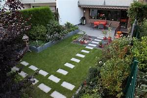 Gartengestaltung Kleine Gärten Bilder : reihenhaus garten nach der fertigstellung ~ Lizthompson.info Haus und Dekorationen