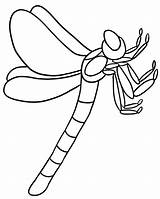 Coloring Pages Dragonfly Outline Bug Printable Clipart Flying Print Dragon Drawing Cute Line Colouring Insects Insect Cliparts Corner Fly Bugs sketch template