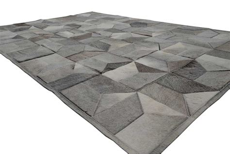 Cowhide Patchwork Rug Gray by Envelope Taupe Gray Patchwork Cowhide Rug Shine Rugs