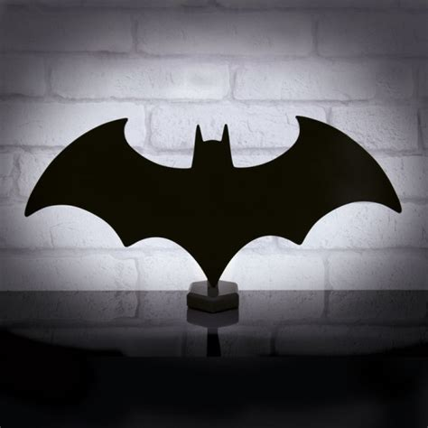 light up and reflect your inner with a batman logo mirror and light