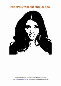 Kim Kardashian Printable People Stencils | Free Printable ...