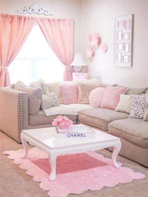 Pink Living Room Interior Design Furniture Decor Ideas by The Most Girly Pink Decor For A Feminine Home Shabby