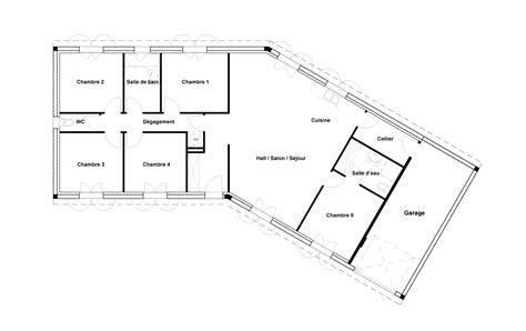 plan maison moderne 5 chambres plan maison plain pied 4 chambres avec suite parentale