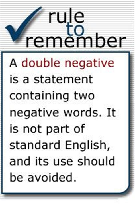 17 Best Images About Double Negatives On Pinterest  Virginia, English And Early Finishers