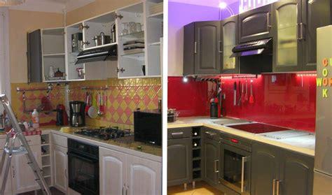 transformer sa cuisine avant après relooker sa cuisine repeindre ses meubles