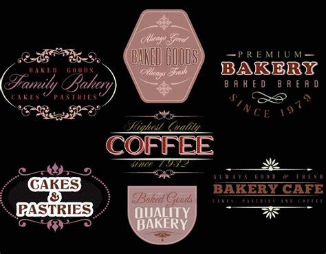 bakery cafe logotype vector
