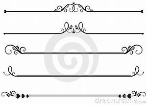 Elegance clipart decorative line - Pencil and in color ...