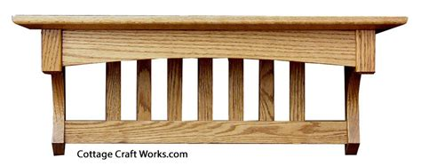 mission oak wall shelf coat rack home essentials amish handcrafted products home goods