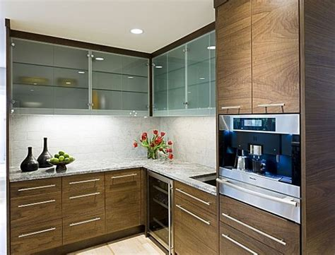 Lacquered Wooden Cabinet With Glass Sliding Doors For