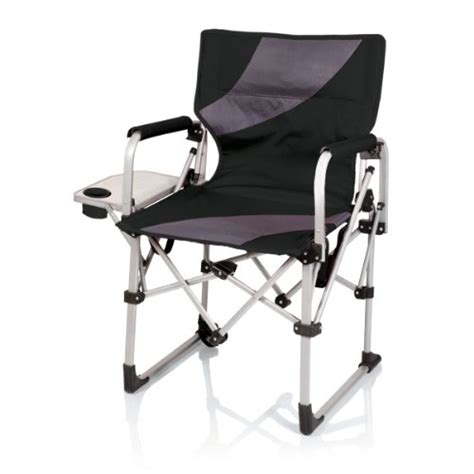 picnic time meta portable folding chair black grey