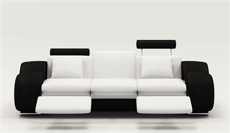 canape cuir blanc design deco in canape design 3 places cuir noir et blanc