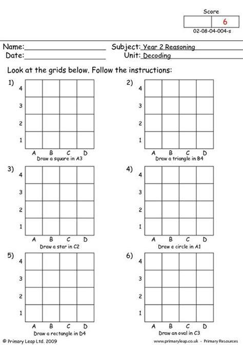 grid printable primary worksheets