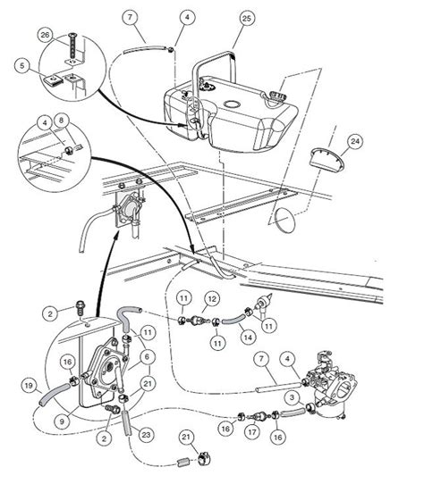 Golf Cart Fuel Diagram by Ezgo Rxv Carburetor Wiring Diagram And Schematics