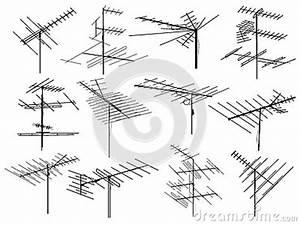 Fil D Antenne Tv : ensemble de silhouettes de fil d 39 antenne de t l vision diff rente image stock image 30429651 ~ Melissatoandfro.com Idées de Décoration