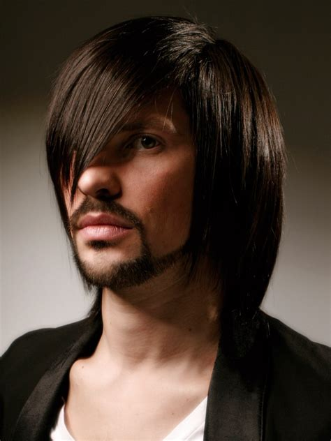 long hair for men shoulder length tapered cut