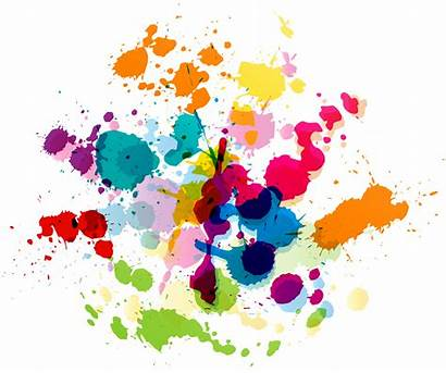 Splatter Paint Transparent Clipart Colorful Clip Splat
