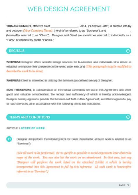 web design contract template web design contract template vandelay design