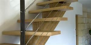 Marche D Escalier En Chene : escalier chene limon central ~ Melissatoandfro.com Idées de Décoration