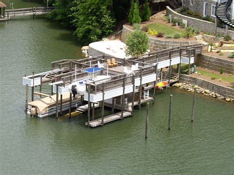 Boat Lifts For Sale Lake Norman by About Lake Norman Custom Docks From Lancaster Dock
