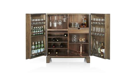 marin shiitake bar cabinet crate and barrel